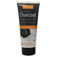 Beauty Formulas Charcoal Clay 100ml Μάσκα προσώπου με ενεργό άνθρακα