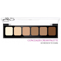 Golden Rose Concealer Cream Palette 02 Medium to Dark - Παλέτα Κονσίλερ σκούρα 12 gr