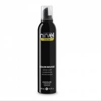 Nirvel Color Mousse 300ml Χρωμοαφρός χρώμα Σοκολατί