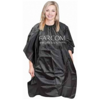 Farcom Professional Μπέρτα Κουρέματος Με Λάστιχο Σε Μαύρο Χρώμα