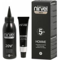 Καστανό σκούρο Ημι-μόνιμη κρέμα βαφή για την κάλυψη των γκρίζων Nirvel Pprofessional Home Hair Coloring Cream 30 ml