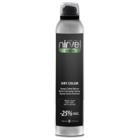 Nirvel Dry Color Black 300ml Ξηρή βαφή σε σπρέυ