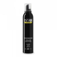 Nirvel Color Mousse 300ml Χρωμοαφρός χρώμα Ασημί