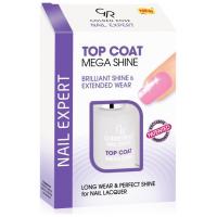 Golden Rose Nail Expert Top Coat Mega Shine για λάμψη και διάρκεια 11ml