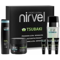 Nirvel Tsubaki Pack Θεραπεία Aποκατάστασης Aφυδατωμένων & Ξηρών Μαλλιών