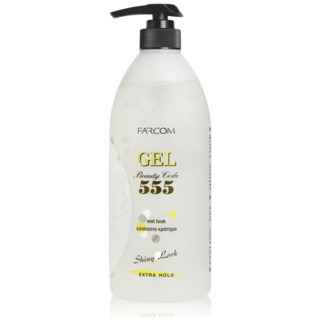 Farcom 555 Styling Gel 600ml Wet Look extra strong